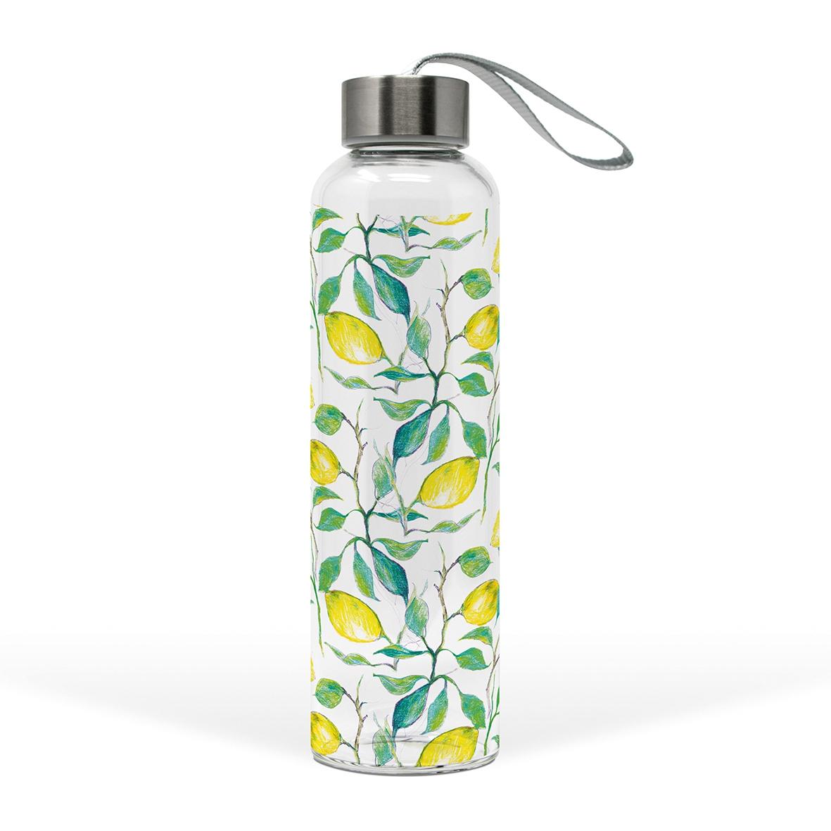 Glasflasche - Wunderschöne Zitronen
