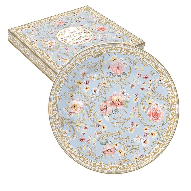 Porzellan-Teller 19cm - Majestic Flowers
