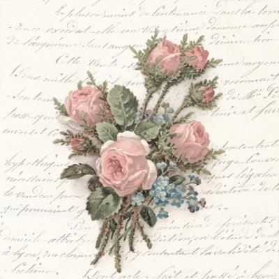 Servietten 33x33 cm - Blumenstrauß
