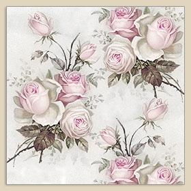 Servietten 40x40 cm - Roses