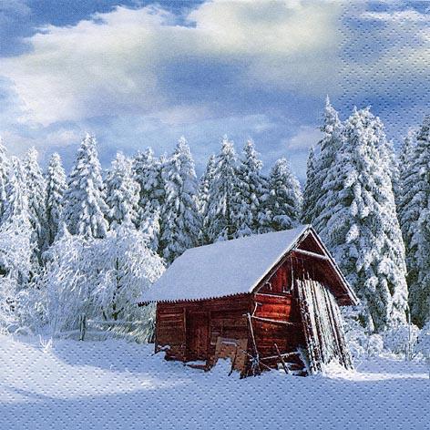 Servietten 33x33 cm - Sonniger Wintermorgen