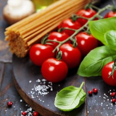 Servietten 33x33 cm - Spaghetti, Tomaten mit Kräutern