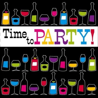 Servietten 33x33 cm - Time to Party
