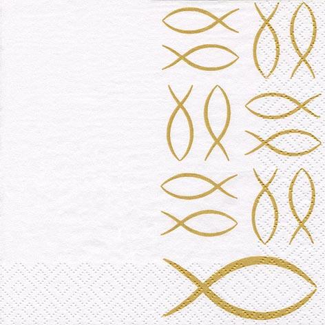 Servietten 33x33 cm - Christian Fisch Gold