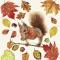 Servietten 33x33 cm - Eating Squirrel