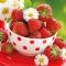 Servietten 33x33 cm - Strawberries In Bowl