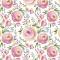 Servietten 33x33 cm - Watercolour Painted Flowers