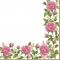 Servietten 33x33 cm - Flower Frame with Garden Roses