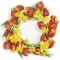 Servietten 33x33 cm - Red Tulips Wreath