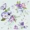 Servietten 33x33 cm - Spring Flowers on Blue Background