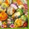 Servietten 33x33 cm - Painted Eggs