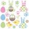 Servietten 33x33 cm - Pastel Easter Set