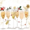 Servietten 33x33 cm - Champagne Glasses